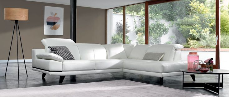 Canapé d'angle MIAMI en cuir de buffle