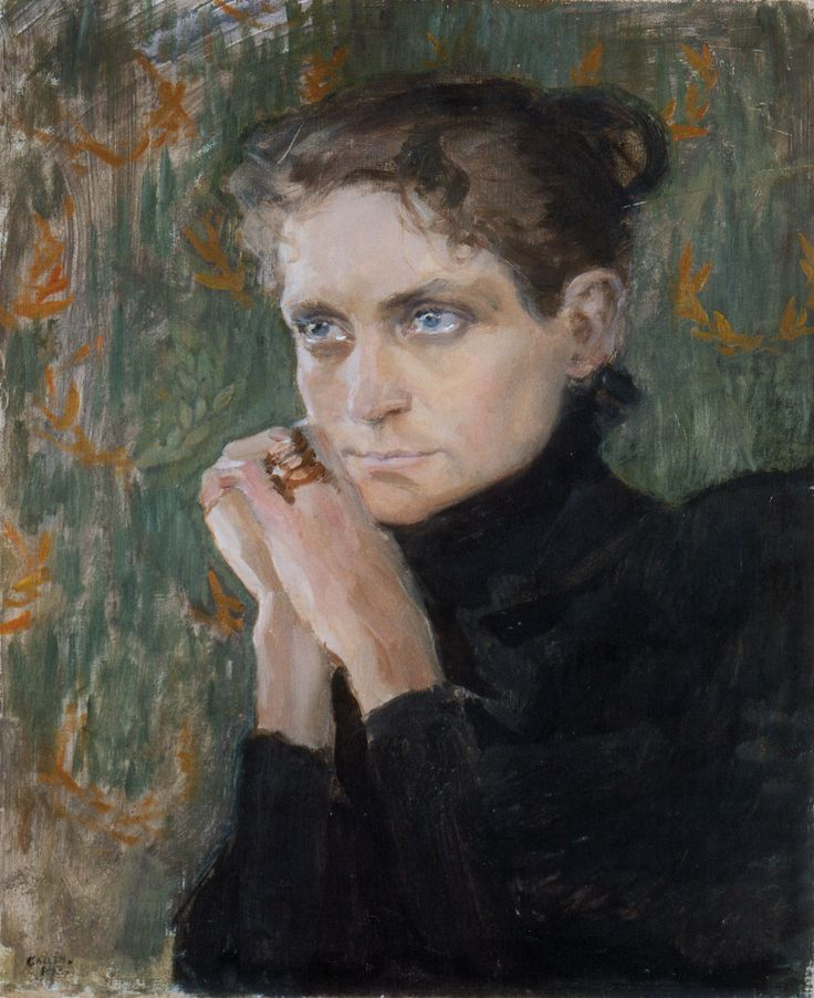 The Athenaeum - Portrait of the Actress Ida Aalberg (Akseli Gallen-Kallela - )