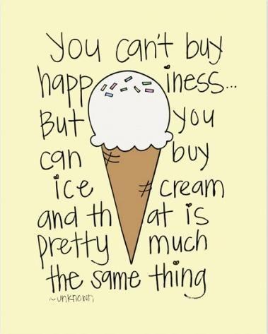 ice cream quotes pictures