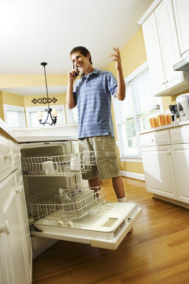 Removing A Bosch Dishwasher Door Hunker Dishwasher Installation Old Kitchen Cabinets Small Bedroom Remodel