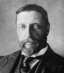 "H. Rider Haggard (1856-1925), author of ""She"" and other great tales; inventor of 'the lost world' literary genre of adventure and exploration."