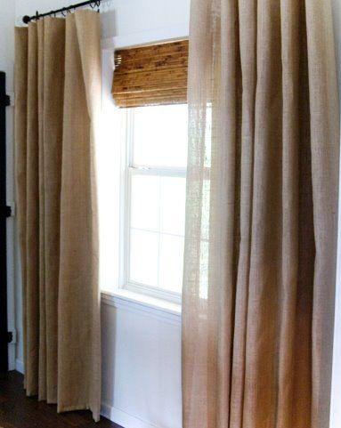 las cortinas de arpillera preciosa detalles del panel