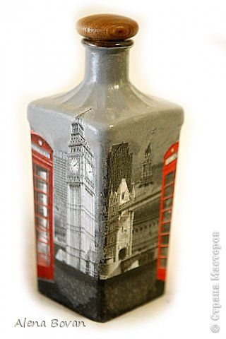 Декор предметов Декупаж ДЕКУПАЖ бутылочки новые и старые  Бутылки стеклянные Салфетки фото 4