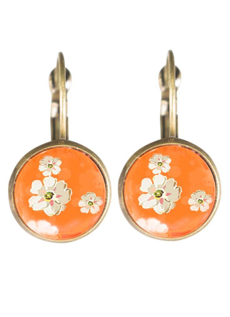 Orange Blossom Clip Earrings - Joli 2014 www.fabuleuxvous.com