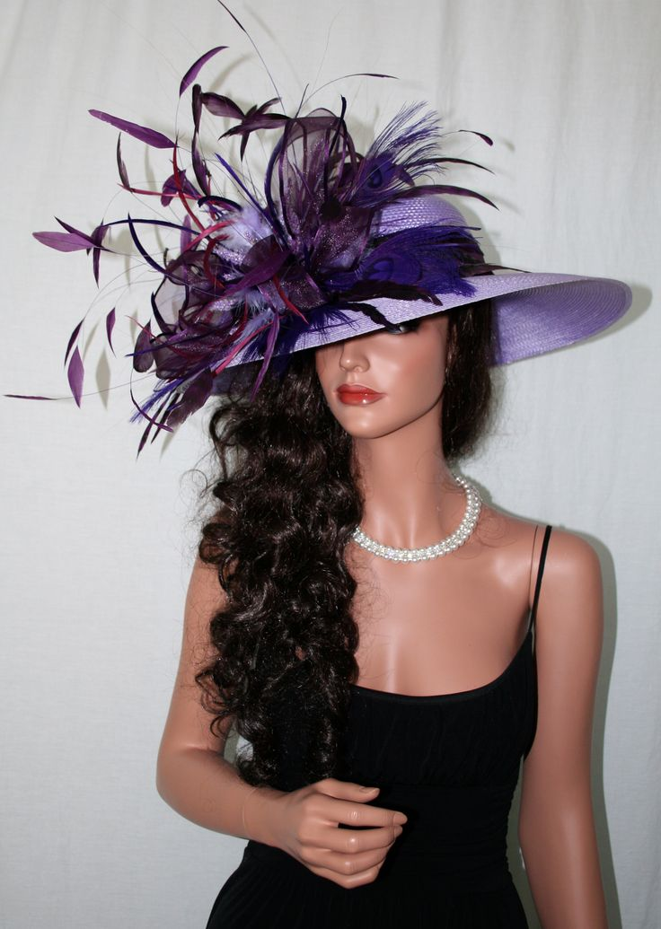 kentucky derby hat! feathers at: www.tonyhill.net                                                                                                                                                      More