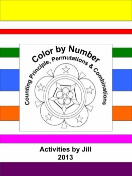 Need a different sort of assignment for a change of pace? Middle and high school students enjoy color by number worksheets. Maybe this is because they don't get to color much after elementary school? If you've never used this type of assignment before, give it a try!  This activity consists of 11 word problems to be solved using the counting principle, permutation formula, or combination formula.  CCSS S-CP