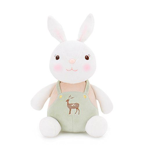 me too tiramitu stuffed bunny dolls wear green romper bab https