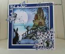 Let it snow, Lavinia stamps challenge