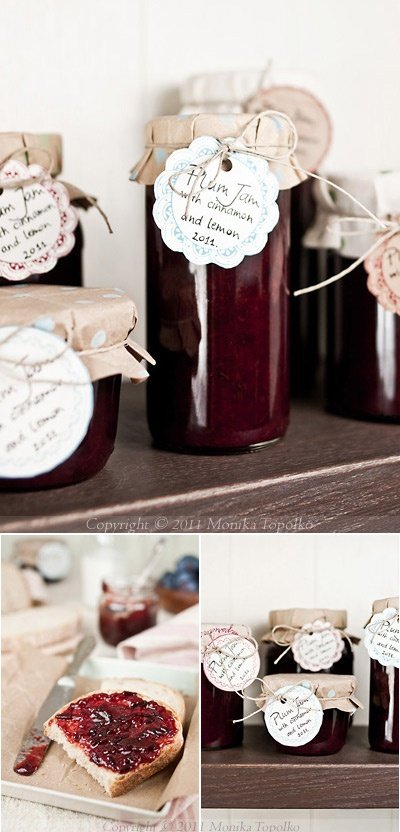Inspiration - Pretty paper + Labels for packaging homemade goodies like jam.