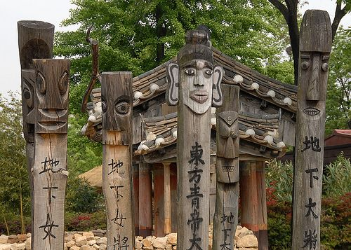 Mold your own Jangseung-style sculptures