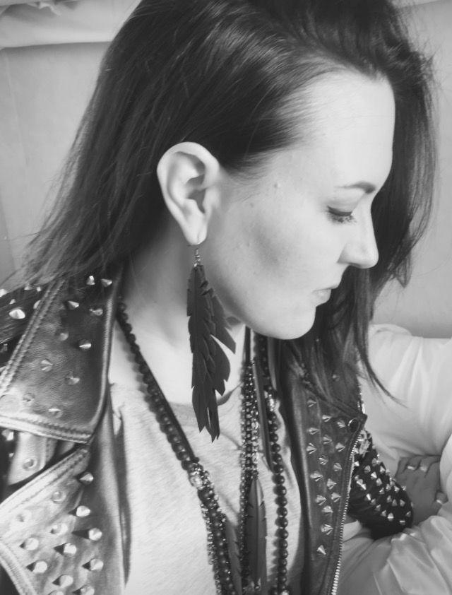 Earrings made of #bicycle #innertube #earrings #uniquedesignbymaria