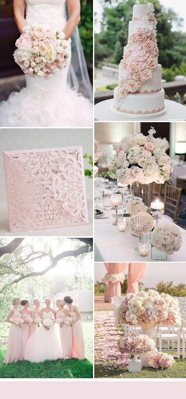 elegant light pink floral glamorous wedding ideas