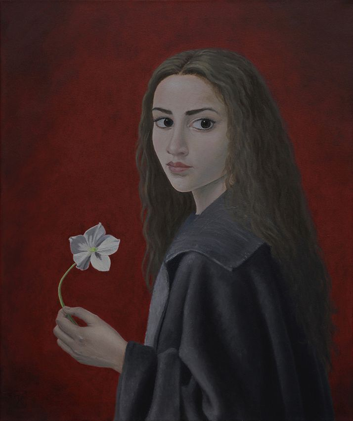 Pure Poison (Black Hellebore) oil on canvas 50x60  At last I finished this painting which I started a couple of years ago and got back to it recently  Available for sale. Message me for pricing.  #completion #oilpainting #peinture #fineart #art #canvas #red #white #woman #blackhellebore #hellebore #portrait  #stilized #realism #cape #clunymuseum #muséecluny #tapestries #tapis #bouguereau #reinterpretation #medieval #19thcenturyart #renaissanceart #hair #poison #danger #darkeyes #mistery