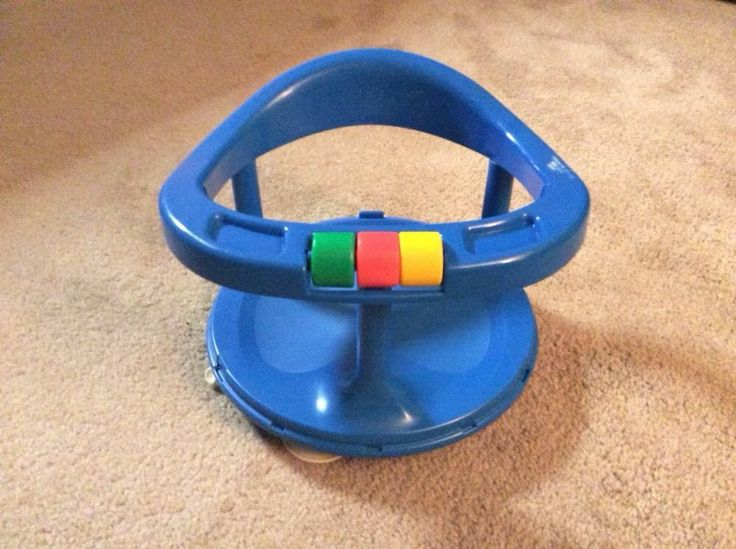 SAFETY FIRST 1st BLUE BATH RING BATHTUB SWIVEL SEAT LOCKS BABY TODDLER INFANT