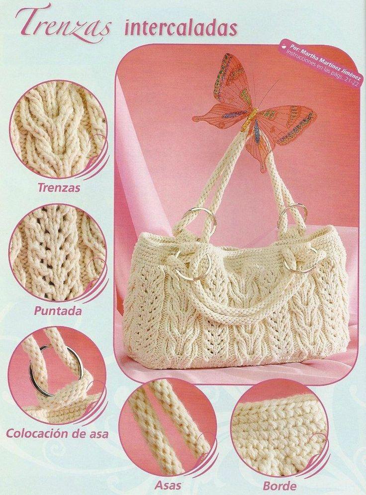 Voici des jolies modèles des sacs au tricot ... Le premier modèle de sac blanc…