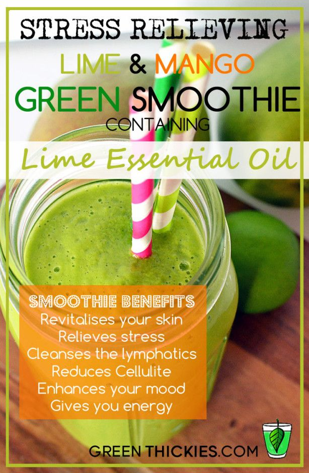 17 best healthy food recipes using young living essential oils mango and lime green smoothie with essential oils forumfinder Gallery