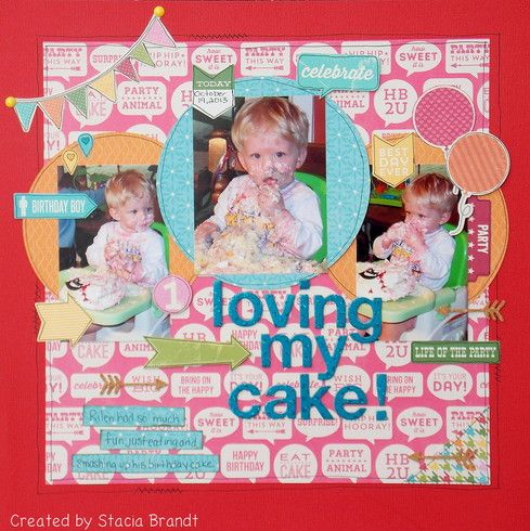 loving my cake gallery a cherry on top scrapbook inspiration 3