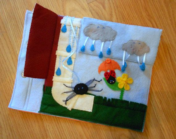Itsy Bitsy Spider Quiet Book Page Busy Book by FreckledFelt
