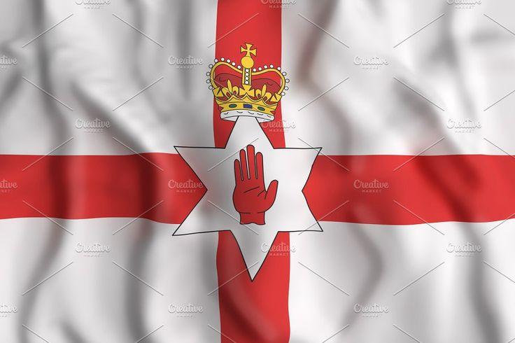 North Ireland flag waving by De todo un poco on @creativemarket