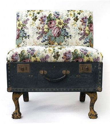 Like the fabric, would look good on a chair, not liking the suitcase conversion