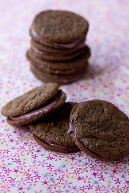 Cherry Chocolate Malt Cookie Sandwiches | Recipe