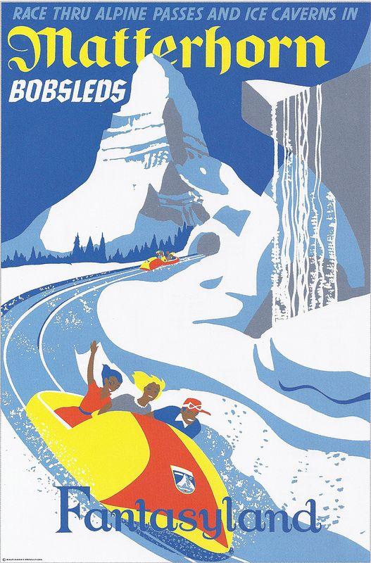 Matterhorn Bobsleds :: Disneyland Park, Paul Hartley, 1959