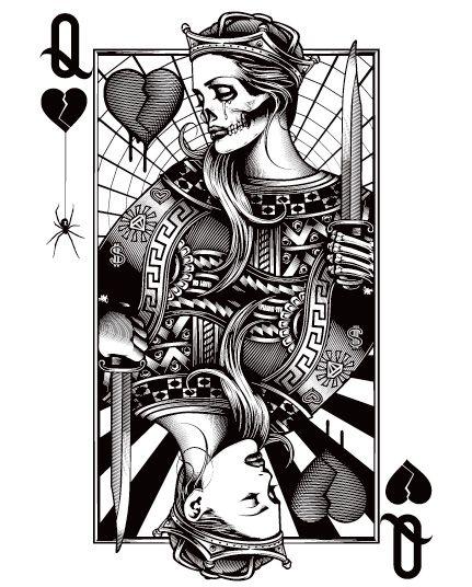 OG Abel Queen Of Hearts Black And White Pinterest