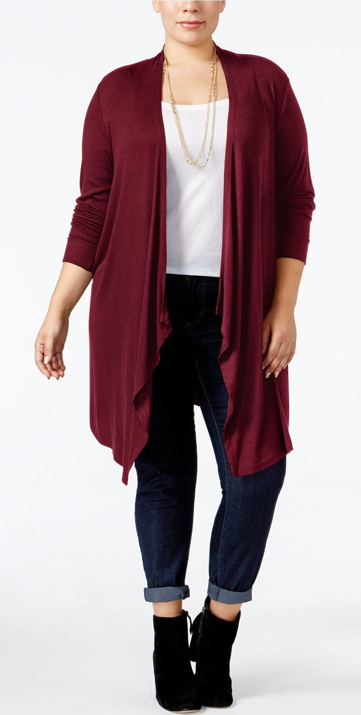 Plus Size Duster Cardigan