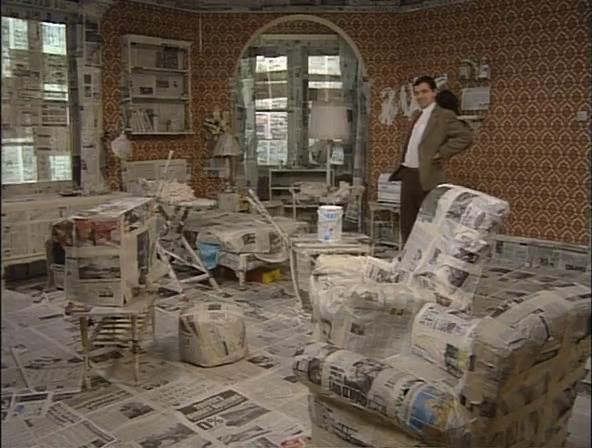 An image from Mr Bean that I though reflected the image we had for our set design.