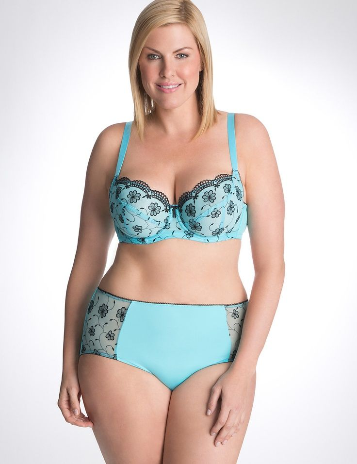 Ewa Michalak Bras Floral Embroidered French Full Coverage Bra By Cacique Lane Bryant J