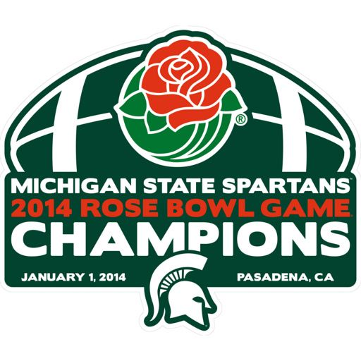 YAY! Michigan State Spartans - 2014 Rose Bowl Game® Champions Logo