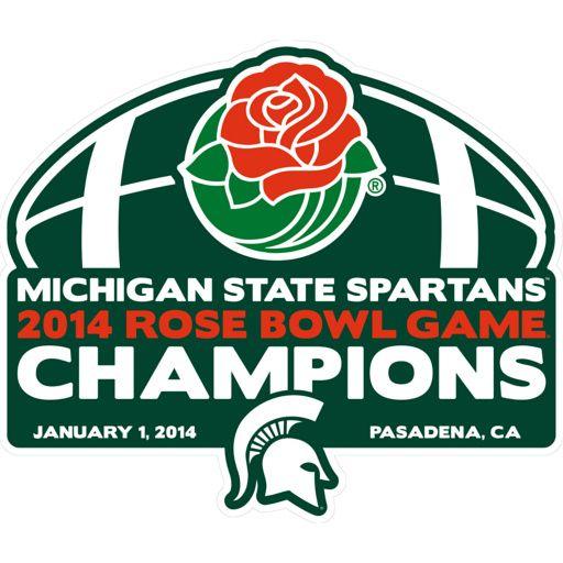YAY! Michigan State Spartans - 2014 Rose Bowl Game® Champions Logo