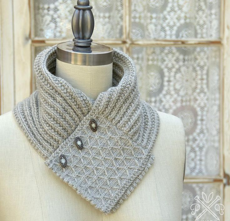 Knitting Pattern Quilted Lattice Ascot : Quilted Lattice Ascot Kit - None Knit One Felt Too ...