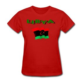 Libyan Flag T-Shirt For Women is available at PersonalizedSouvenirs.com.