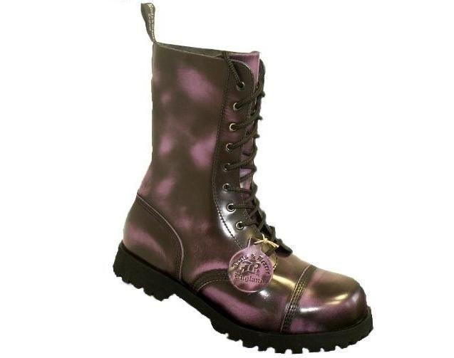 Boots & Braces Boots & Braces 10-Loch Stiefel, Lila  #bootsandbraces #boots #stiefel #lilastiefel / mehr Infos auf: www.Guntia-Militaria-Shop.de