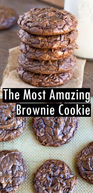 Der erstaunlichste Brownie Cookie #dessert #Brownie #Cookie