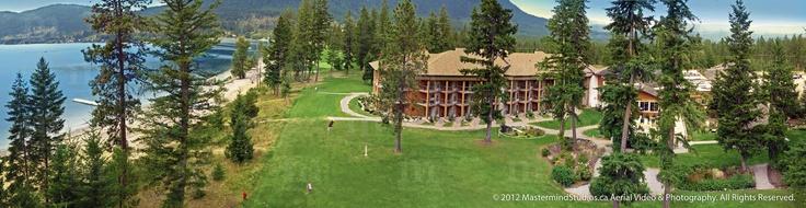 Quaaout Lodge, Little Shuswap Lake, Kamloops, BC. Aerial photo. www.mastermindstudios.ca