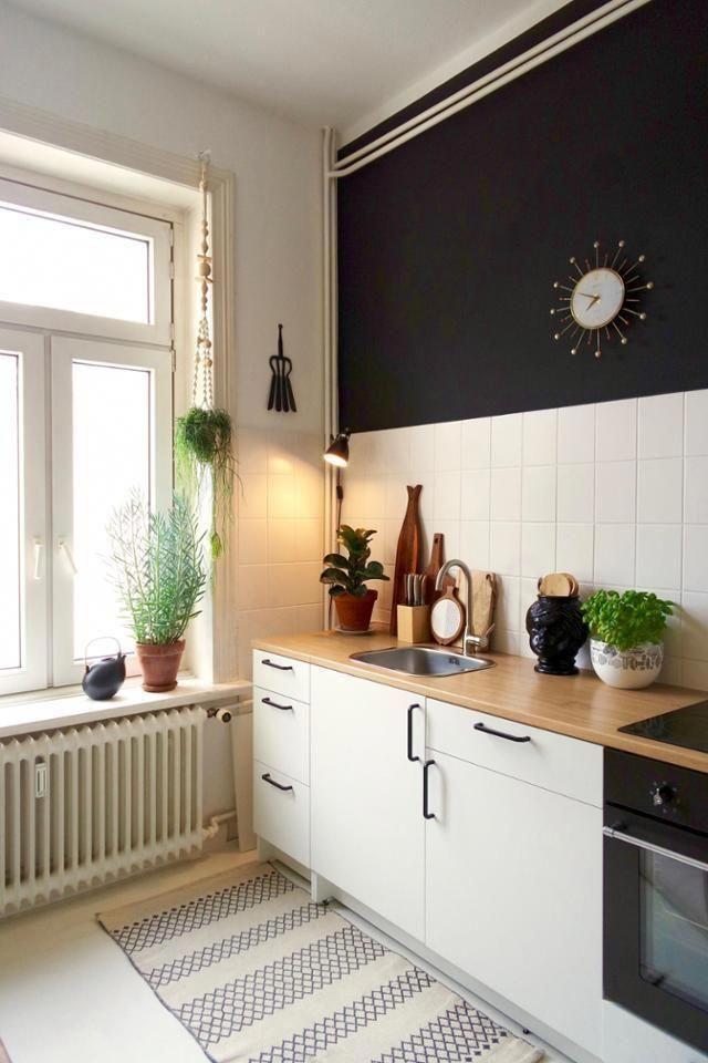 Schwarze Wand In Der Kuche Kitchenfurnitureclassicdiningtables Home Decor Kitchen Kitchen Views Modern Kitchen