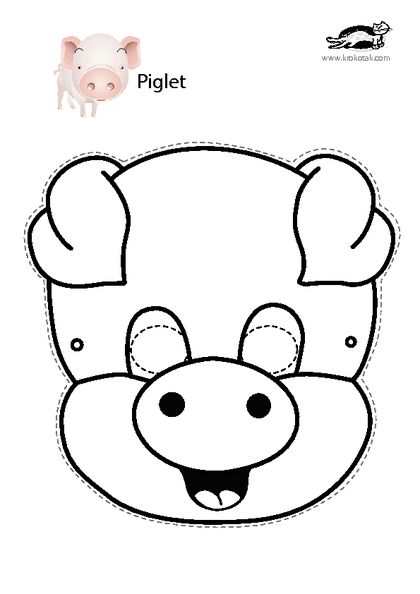 26 best images about masky on pinterest zebra mask for Pig puppet template