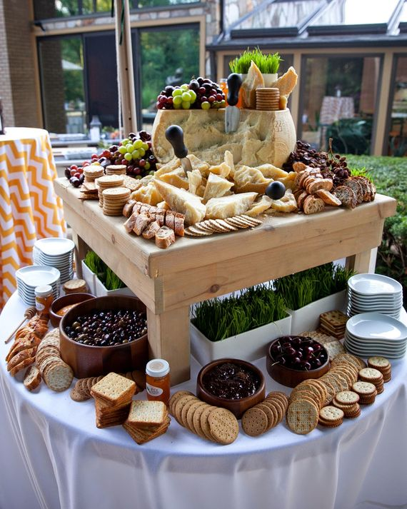 FCI Catering & Events makes sure their cheese bars include aged cheese, soft cheese, firm cheese, and blue cheese. The food bar also… More