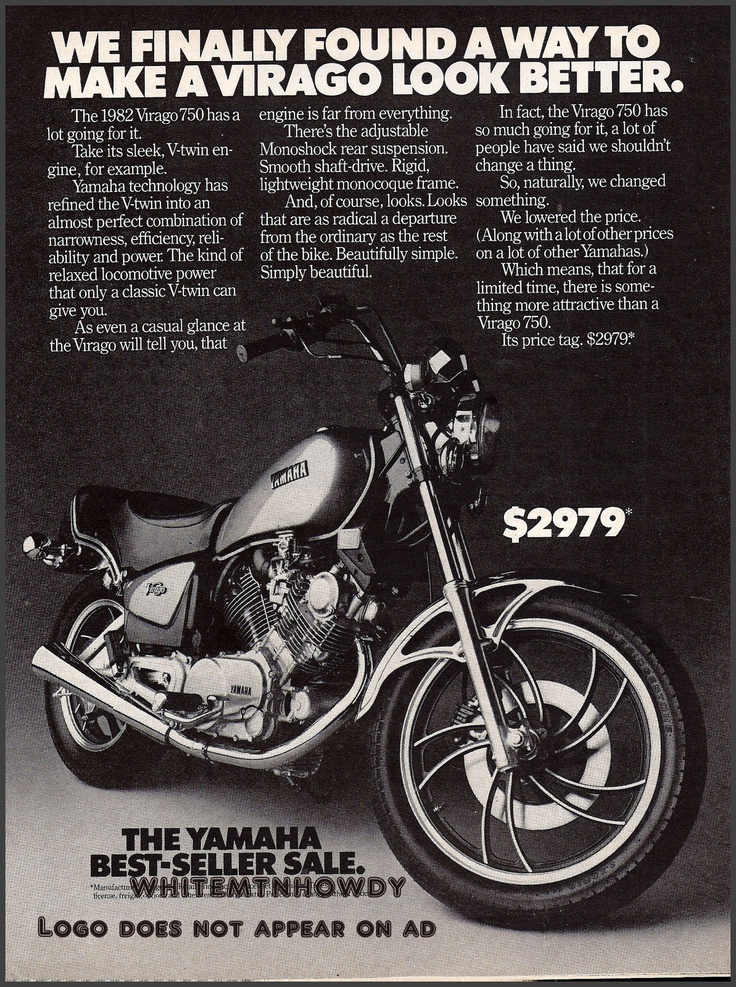 152 best motorcycles images on pinterest motorcycles classic 1982 yamaha virago 750 ad vintage motorcycle just like i used to fandeluxe Images