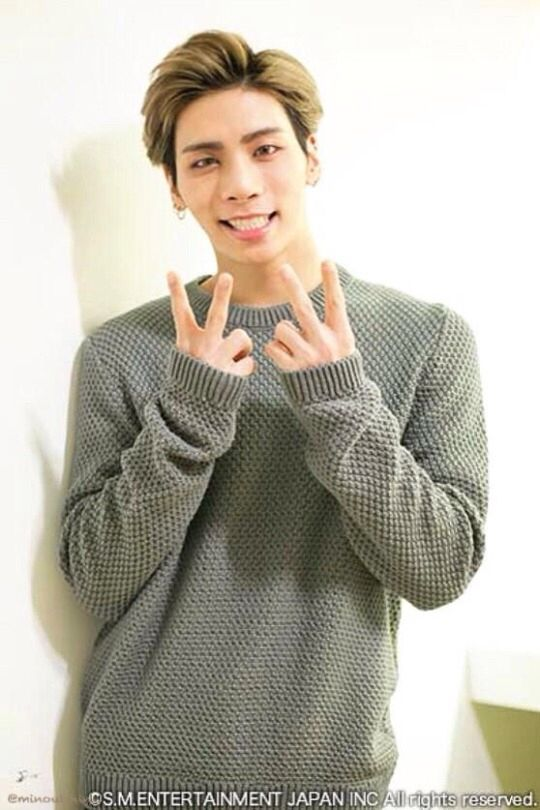 Jonghyun of Shinee. He's so handsome. Be has a beautiful smile, and big brown puppy dog eyes. Adorable ^_^