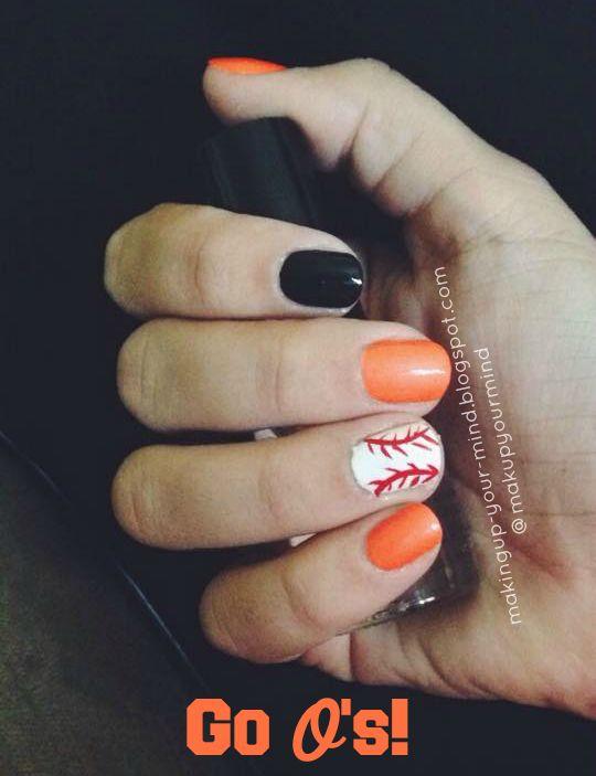 #Orioles #Nails #notd #IBackTheBirds