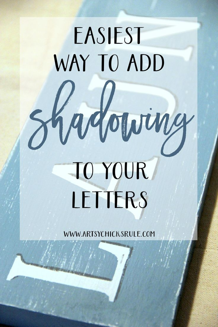EASIEST Way to Add SHADOWS to letters!! Gotta do this! artsychicksrule.com