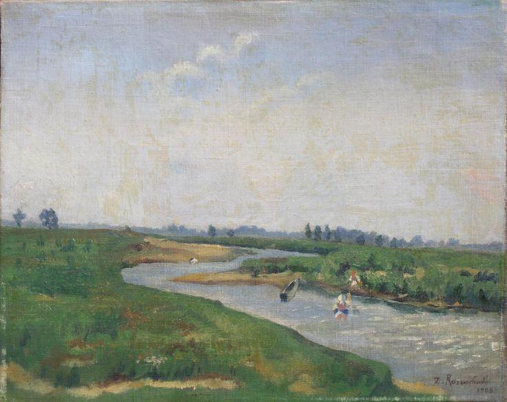 Zygmunt ROZWADOWSKI,San pod Krasiczynem , olej, płótno, 40,5 x 50 cm