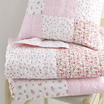 Kids Patch Flowers Decorative Quilt and Cushion Cover
