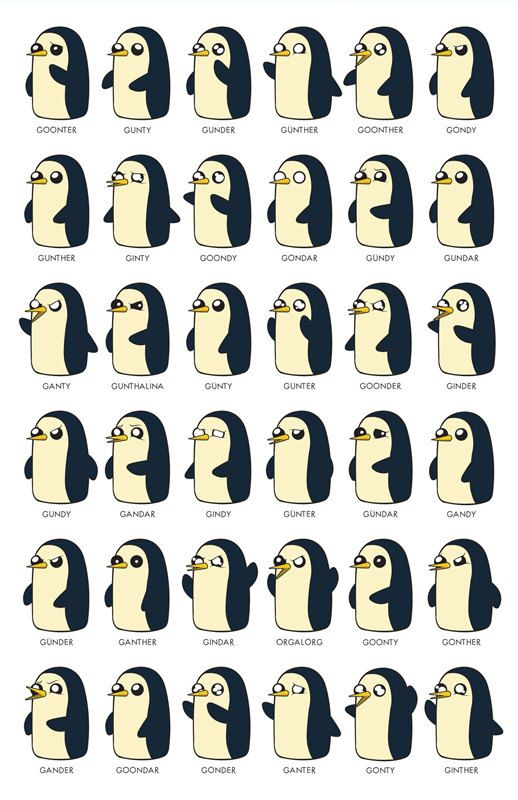 Gunter by Jeff Mitchell (illoguerillo). 11x17 (Tabloid Size) poster, printed on 100lb. (270gsm) uncoated card stock.