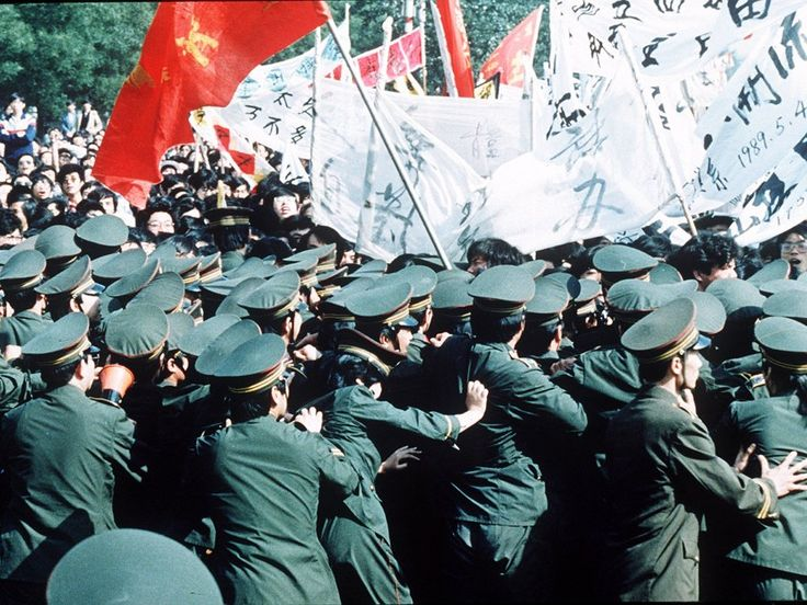 The protests began on April 15th, after the death of ousted General Secretary Hu Yaobang.