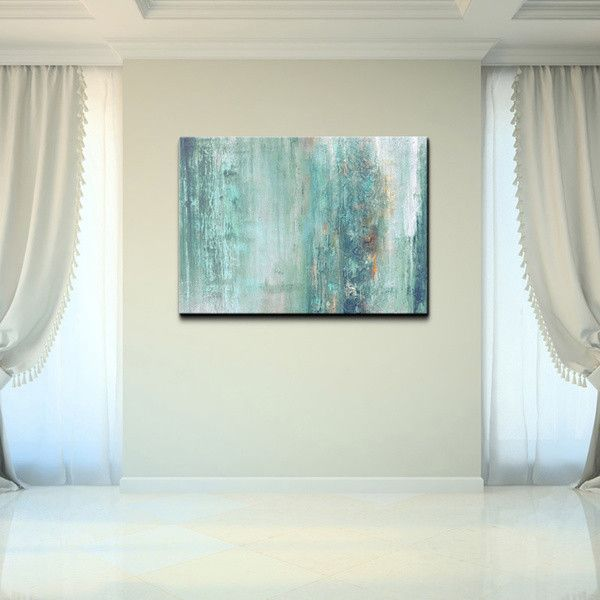 Ready2HangArt 'Abstract Spa' Gallery-wrapped Canvas ($118) ❤ liked on Polyvore featuring home, home decor, wall art and rooms