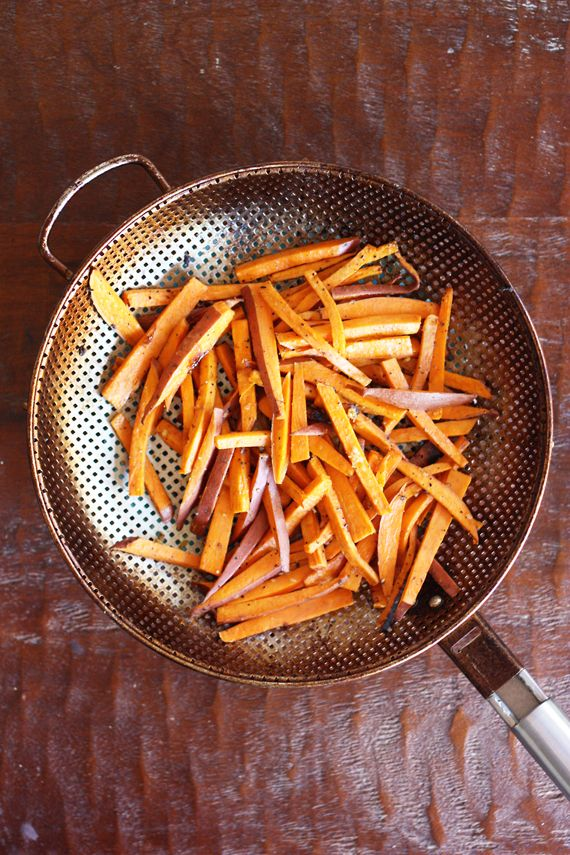 grilled sweet potato fries (omit pepper)